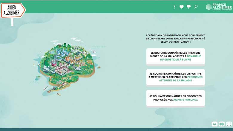 France Alzheimer lance une ville interactive d'aide aux malades