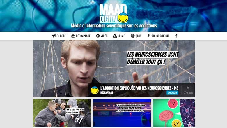 Un site web d'information sur les addictions dédié aux adolescents